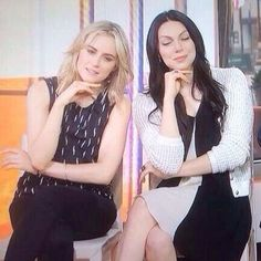 Laura Prepon and Taylor Schilling #oitnb