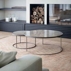 notre monde | bronze nesting coffee table set - 20700 - heavy aged