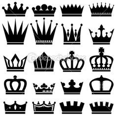 Line designs for creating royal felt crowns