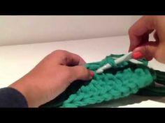 Ganchillo zurdos & diestros: Base de bolso ovalada de trapillo by Sacocharte - YouTube