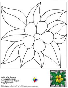 simple flower stained glass patterns - Yahoo Image Search Results