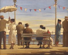The Pier Art Print by Jack Vettriano - WorldGallery.co.uk