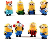 Bossel 8Pcs Set Despicable Me 2 The Minions Role Figure Display Toy PVC Bossel http://www.amazon.com/dp/B00ZWL5GK6/ref=cm_sw_r_pi_dp_P09dwb11DW58X