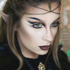 Dark elf makeup by #katosu Regram from #anastasiabeverlyhills #makeup #bblogger #beauty #mua #sfx #Halloween #elf #cosplay