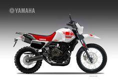 Motosketches: YAMAHA XTR 700 TENERE'