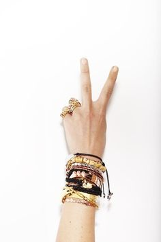 Peace, love and rose gold accessories #inspiration