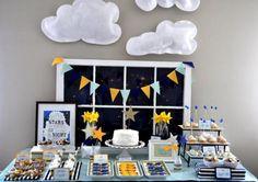 Twinkle Twinkle Little Star birthday party via Kara's Party Ideas karaspartyideas.com #twinkle #little #star #cake #room #party #ideas