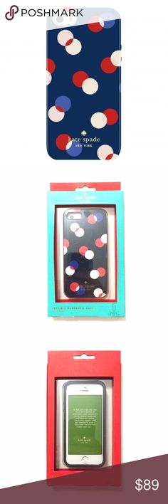 Kate Spade Multicolored Dots iPhone SE 5/5S Case BNIB  Flexible hardshell case. This fits the new iPhone SE and the iPhone 5 and 5S. The exterior packaging may have some imperfections, but any damage to the box does not affect the product at all.  ❌ Sorry, no trades. kate spade Accessories Phone Cases