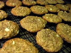 Healthy Recipe: Apple Oatmeal Flax Cookies. Sooooo good! Omit the veg. Oil and use a little unsweetened applesauce. I also used almonds instead of walnuts. Enjoy :)