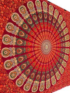 This is elwgant red color mandala Tapestry wall Hanging Available at #Handicrunch