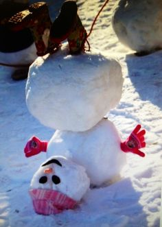 Tumbling snowman