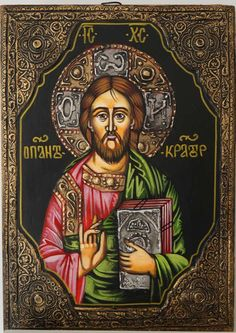 Hand-painted Byzantine icon of Jesus Christ Pantokrator About our icons BlessedMart offers hand-painted religious icons that follow the Russian, Greek, Byzantine and Roman Catholic traditions. We partner with some of the most experienced iconographers in the country. Artists with more than 20 years of experience in modern iconography. Each and every icon that we sell in our