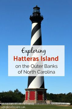 The Cape Hatteras Lighthouse is my favorite one of the 5 lighthouses dotting the Outer Banks.  Such a fun place to visit!