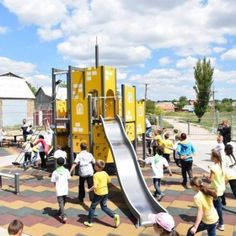This inspiring schoolyard is located in Antonivka, Ukraine. See more referencer from our wesite! Park Equipment, Sports Equipment, Sport Park, Hard Wear, Playgrounds, Children's Place, Ukraine, Around The Worlds, Exercise