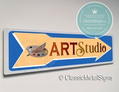 Classic Style Art Studio Sign – UV Protected Weatherproof Signs Suitable for Outdoor or Indoor Use – Exclusively from Classic Metal Signs Directional Signs, Metal Signs, Art Studios, Toy Chest, Classic Style, Classy Style, Conservative Style, Artist Studios