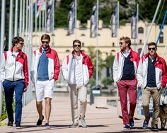 Pierre Casiraghi and his crew wear the Fay Race Jacket, perfect for a wide range of outdoor experiences. More on http://www.fay.com/fay-life/projects/race-jacket/