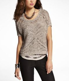 MARLED WEDGE SWEATER at Express #ExpressJeans