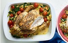 Lemony chicken, cherry tomato and orzo bake : Recipes from Ocado