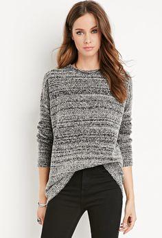 Marled Longline Sweater - Sweatshirts & Knits - 2000179118 - Forever 21 EU English