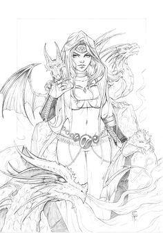 Here Be Dragons (Pencils) by AberrantKitty.deviantart.com on @DeviantArt