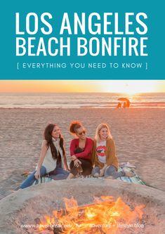 Dockweiler Beach Bonfire Los Angele Style | General beach bonfire tips, what to pack and beach bonfire snack ideas. | From the travel blog Travel-Break.net | In partnership with Zappos #TravelDestinationsUsaWarm