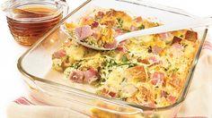 Casserole déjeuner au jambon et au fromage OKA