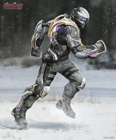 Enjoy a collection of Concept Art by Josh Nizzi made for Avengers: Age Of Ultron ! Marvel Concept Art, Marvel Art, Rpg Cyberpunk, Futuristic Armour, Sci Fi Armor, Superhero Design, Armor Concept, Avengers Age, Suit Of Armor