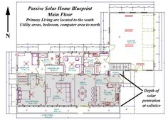 Passive Solar Home Blueprint