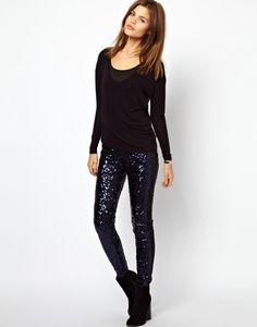 Asos, Leggings #seaquin look  http://followingyourpassion.wordpress.com/2013/09/20/guida-alluso-del-leggings-i-modelli-piu-belli-nei-negozi/