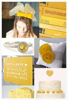 Etsy Wedding Inspiration Board: Marigold Sunshine #yellowwedding ~ All these images are from current Etsy.com listings!!!