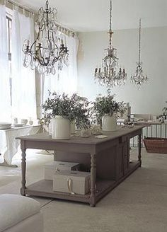 from 'Cote Bastide' showroom. Can u spare a chandelier? So beautiful. French Decor, French Country Decorating, Deco Champetre, Provence Style, Interiores Design, Interior And Exterior, Painted Furniture, Sweet Home, Design Inspiration