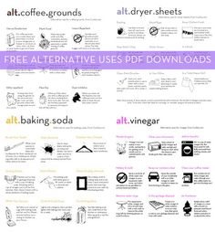 Free Download: Curbly's Alternative Uses Cheat Sheet Bundle » Curbly | DIY Design Community