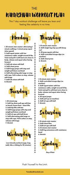 The Kardashian workout plan - self try #workoutinspiration