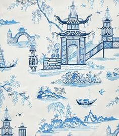 Chinoiserie Chic: Blue and White Fabrics - All Under Thirty Dollars