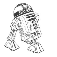 Learn how to draw Star Wars characters with our series of special tutorials. This time is time to learn how to draw the robot R2D2.