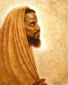Isaiah Greeting Card by Raymond Walker Black Art Painting, Black Artwork, Religious Images, Religious Art, African Jesus, Black Jesus Pictures, Jesus Art, Jesus Christ, Savior
