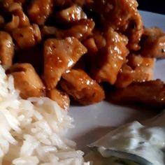 Édes-csípős csirke Pork, Chicken, Meat, Ethnic Recipes, Kale Stir Fry, Pork Chops, Cubs