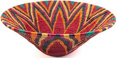 Africa | A 'Lutindzi' basket made by the women of Swaziland.