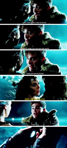 Gal Gadot as Diana Prince and Chris Pine as Steve Trevor. John Barrowman, Harley Quinn, Gal Gadot Wonder Woman, Wonder Woman Movie, Dc Memes, Fandoms, Chris Pine, The Villain, Marvel Dc Comics