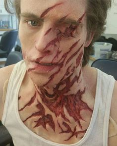 Awesome makeup piece (pre blood) created by artist Conor McCullagh (@mccullaghconor) for WCT Productions on Wayward Pines. thats cool.