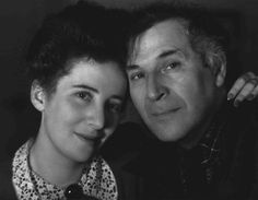 """Russian-born Jewish artist Marc Chagall with his daughter, Ida. The Nazis declared Chagall's work """"degenerate."""" After the fall of France, where he had been living, Chagall fled to the United States. United States, 1942."""