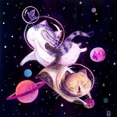 Siamés Escalante - gouache illustration commissions for lovely kitty owners. Gouache Illustrations, Illustration Art, Kero Sakura, Art Van, Dibujos Cute, Space Cat, Cat Drawing, Cute Wallpapers, Cat Art