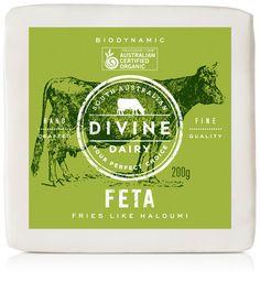 Feta-Shad Dairy Packaging, Cheese Packaging, Food Packaging, Packaging Design, Fromage Aop, Australian Organic, Bio Food, Milk Brands, Food Labels