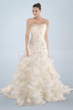 Wholesale Weddig Dresses - Buy New Arrivals Sexy Mermaid/Trumpet Sweetheart Sweep Train Zipper Beads/Lace/Ruffles Wedding Dresses, $138.0 | DHgate