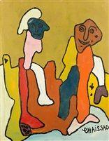 Deux personnages par Gaston Chaissac
