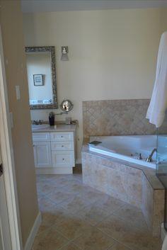 Ensuite Bathroom 1 Ensuite Bathrooms, Corner Bathtub, Alcove, Kylie, Interiors, Bathroom Stall, Interior, Decorating, Deco