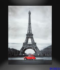 Leinwand Bild Keilrahmen Wandbild 46x61 Paris Eifelturm Frankreich Wandbilder Keilrahmen