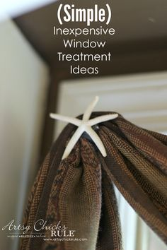 On a budget? You can still make your living room windows look gorgeous with these inexpensive window treatment ideas! via @artsychicksrule