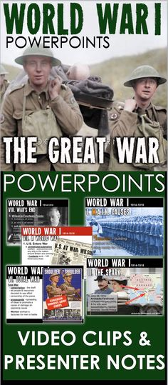World War I PowerPoint - WWI PowerPoint with Video Clips + Presenter Notes - josephine World History Projects, World History Facts, World History Classroom, Ancient World History, World History Lessons, History Memes, Teaching Social Studies, Teaching History, Student Teaching