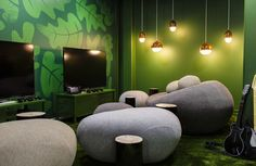 Office Game Room - King (Candy Crush Saga) Stockholm offices. Great Bean Bag chairs.